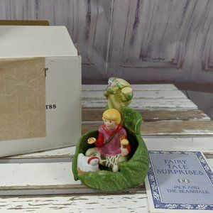 New Franklin Mint Fairy Tale Surprises JACK and th
